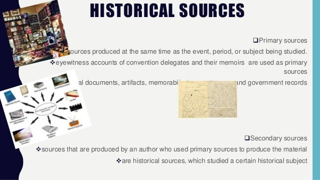 define secondary source in history