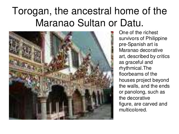 Torogan, the ancestral home of the Maranao Sultan or Datu.<br />One of the richest survivors of Philippine pre-Spanish art...