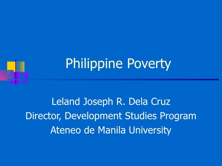 recommendation of poverty in the philippines Conditional cash transfer program in conditional cash transfer program in the philippines: controversial poverty reduction program of the philippine.