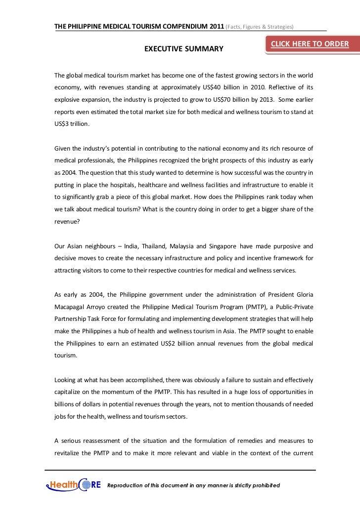 THE PHILIPPINE MEDICAL TOURISM COMPENDIUM 2011 (Facts, Figures & Strategies)                                              ...