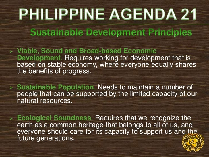    Poverty Reduction: Poverty is a central concern of    sustainable development. Consistent with this, the    various co...
