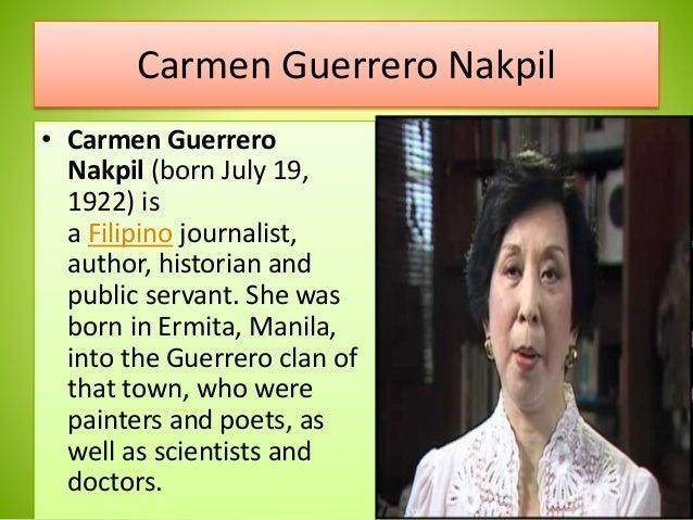 essay of carmen guerrero nakpil