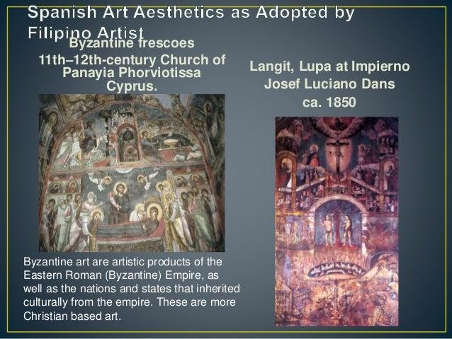 Byzantine frescoes 11th–12th-century Church of Panayia Phorviotissa Cyprus. Langit, Lupa at Impierno Josef Luciano Dans ca...