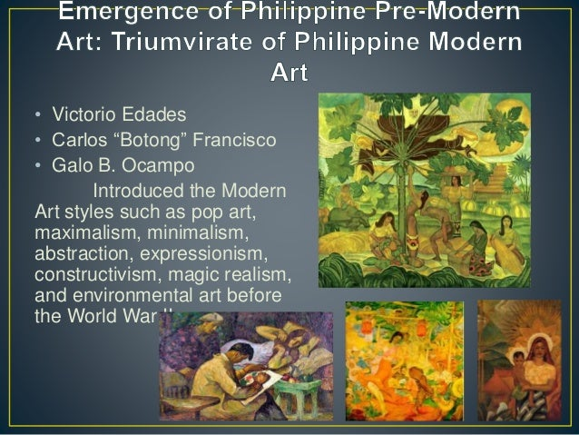 Art After the War: The Growing and Expanding Philippine Art Maria Makiling Botong Francisco