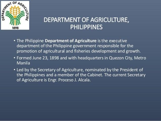 D.e.p agriculture