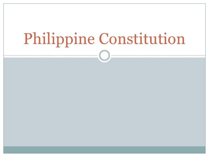 Philippine Constitution<br />