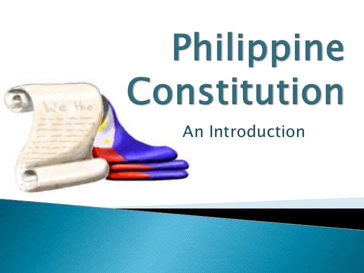 PhilippineConstitution<br />An Introduction<br />