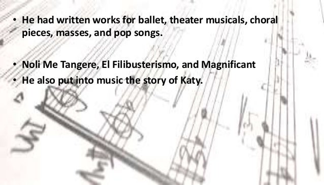 Filipino contemporary composers ppt