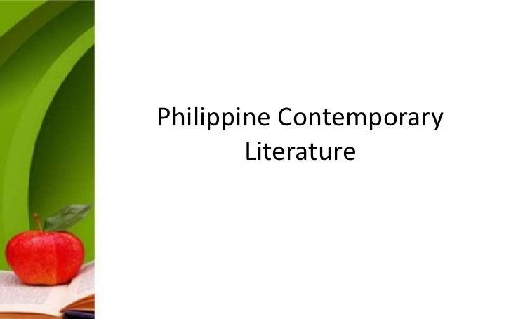 Philippine Contemporary        Literature