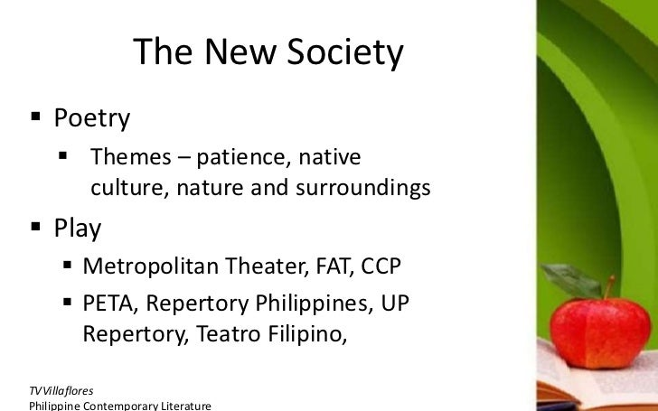 poetry in the period of new society in philippine literature