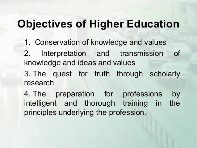 meaning of higher education