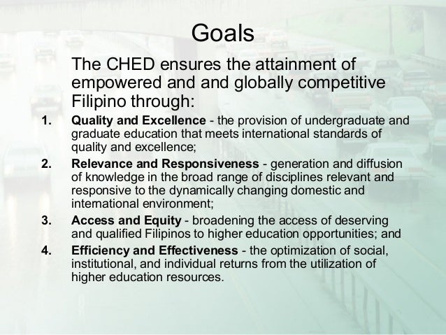 goals and structure of philippine education Administration and governance of higher education in asia: challenges in administration and governance of higher as the structure of higher education in most.