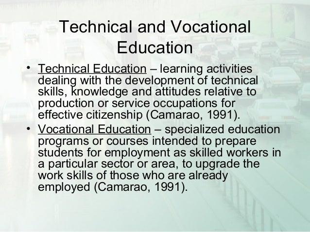 easy essay on technical education