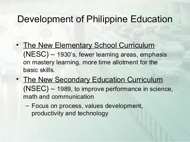 new elementary curriculum in the philippines Republic of the philippines k to 12 curriculum guide english students enhance their language abilities by using what they know in new and more.