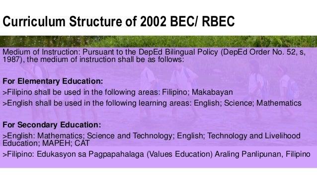 Rbec curriculum
