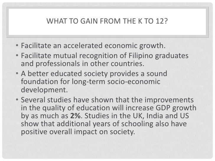 the implementation of k 12 Manila - part of the preparations of the department of education (deped) in the implementation of the k to 12 program is to train public school teachers however, teachers noted that trainings they have undergone were rushed and not well thought of france castro, secretary general of the alliance.