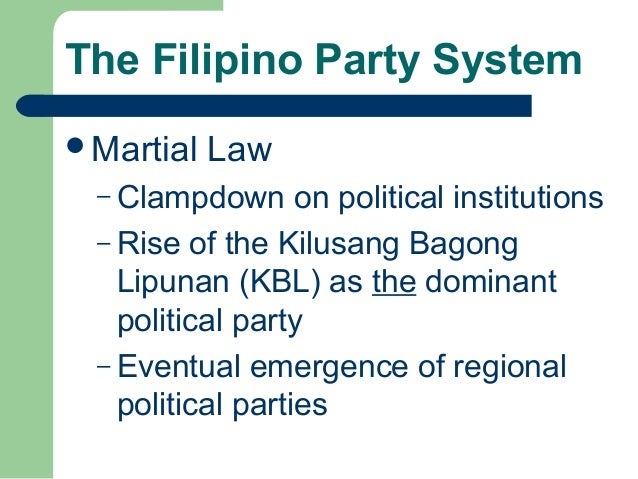 Philippine political parties electoral system and