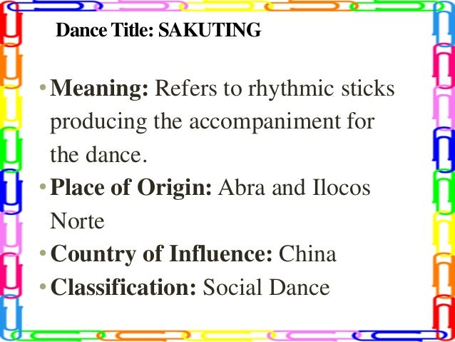 Classification of dances