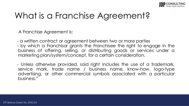 Philippine Franchising Law