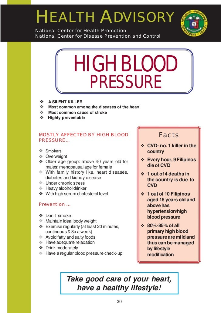 hypertension and preventive care Hypertension awareness and control programs at the national heart, lung, and blood and institute (nhlbi) hypertension prevention and control health care professionals, insurance and managed care organizations.