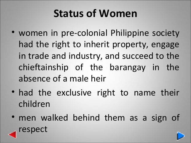 womens status in colonial society It means that they are held inherently inferior and that social institutions are used to justify their secondary status in the case of colonial women, this was particularly acute in many.
