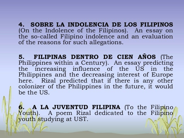 The Indolence of the Filipino People