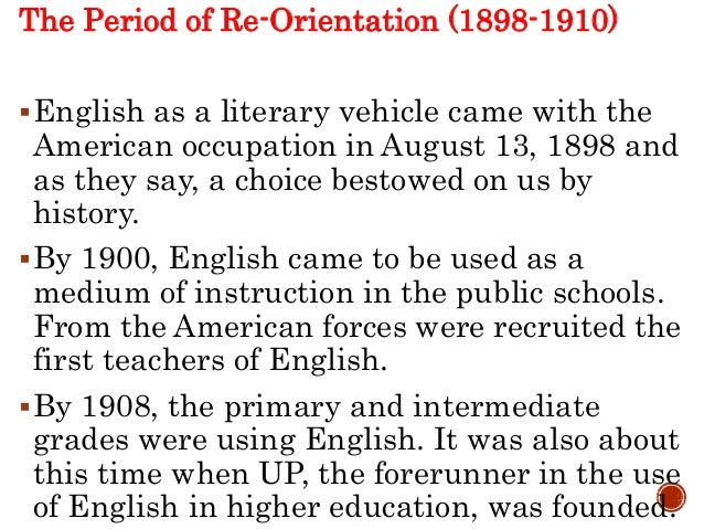 time frames of the philippine literature in english the period of self discovery 1925 1941 Famous firsts trivial trivia is a collection of interesting facts about the first person to  1925 --- 1st female  she piloted the space shuttle discovery .