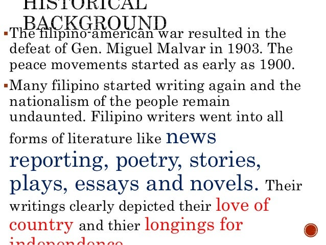 list of essays by filipino writers Sample essay written by filipino authors sample of written self introduction free essays - studymode sample of written self introduction self-introduction essay.