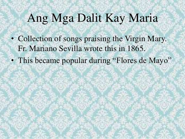 tagalog poems during spanish period Some references date the origins of the term filipino time back to the spanish  period when filipino indios were asked to appear at gatherings.