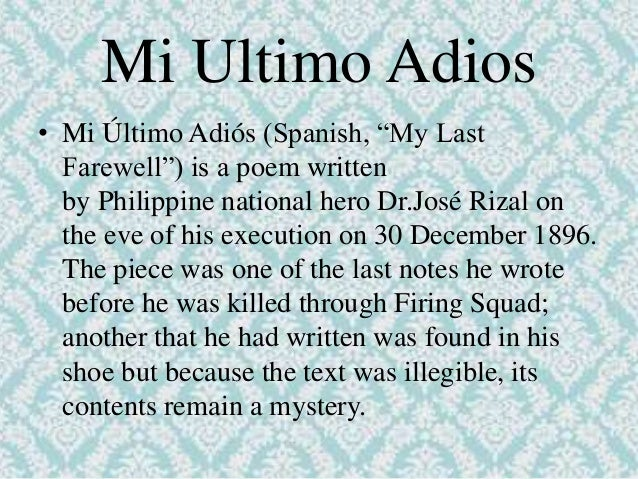 jose rizal epic poem This epic poem was written by jose rizal in 1879 and declaimed by manuel fernandez on the night of december 8, 1879 in honor of the ateneo's patroness.
