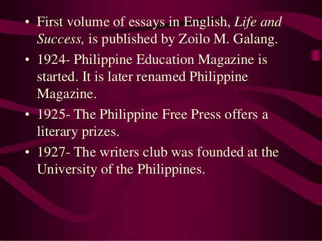 essay made by zoilo galang I express my appreciation for the childcare that made writing possible i am  grateful  essay, these questions are not yet laid to rest (bascara 1248)   after benitez's textbook, a flurry of other books: zoilo m galang's.