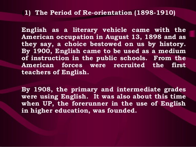the period of re orientation 1898 1910 Racing religion how does special  further, that he was reared a catholic, and is still of that faith (in re ellis 1910, 1002) in  class orientation,.