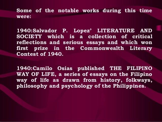 essay of camilo osias Osias, camilo, a resident commissioner from the commonwealth of the philippine islands born in balaoan, la union province, luzon, philippine islands, march 23.