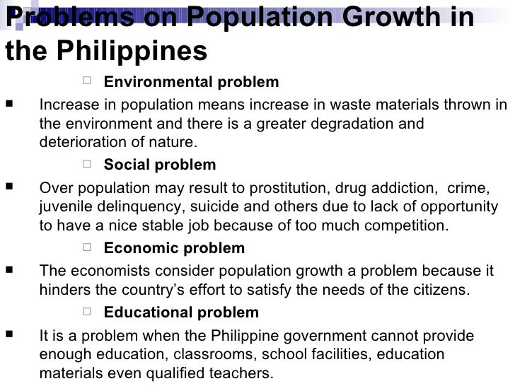 causes of population growth in the philippines