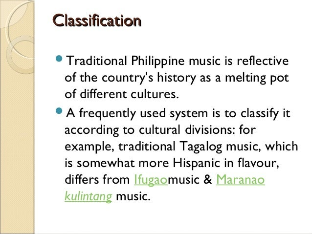 music of the philippines Music of the philippines is an excellent ambassador in that mission the liner notes provide the essential information for people who may never have heard philippine music before, with a bit of background on the two main styles.