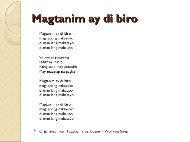 Madison : Luzon folk songs