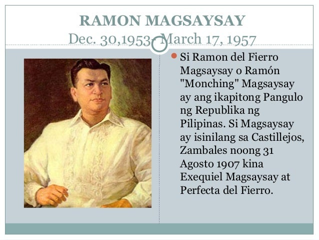 an introduction to the life of ramon magsaysay We would like to show you a description here but the site won't allow us.