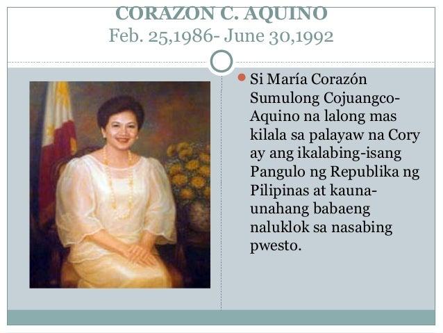 ang talambuhay ni dating pangulong Corazon Aquino Internet dating eerste bericht voorbeelden