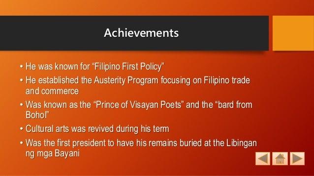 Policies of ramon magsaysay