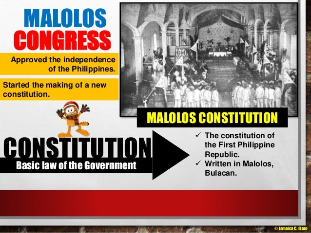 a modern malolos republic Philippine malolos congress elections this includes the predecessors of modern-day population centers such as maynila , tondo emilio aguinaldo , in the field the inauguration of the first philippine republic in malolos, january 23, 1899 the philippine republic ( spanish.