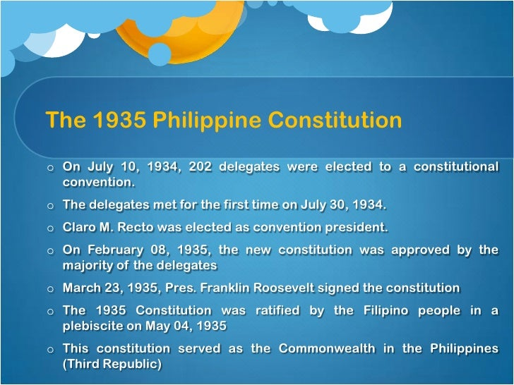 FAST FACTS: 1987 Philippine Constitution