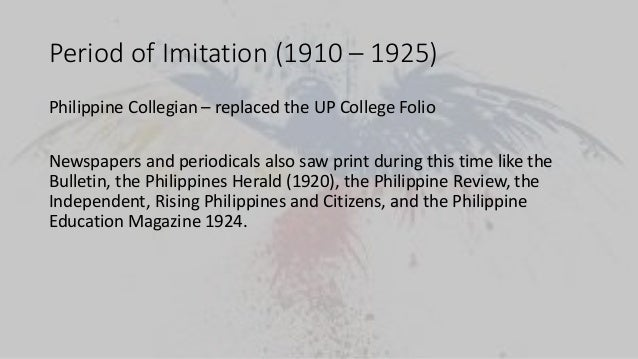 the period of imitation 1910 1924 essay