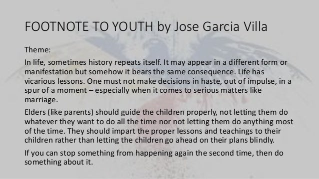 footnote to youth conflict