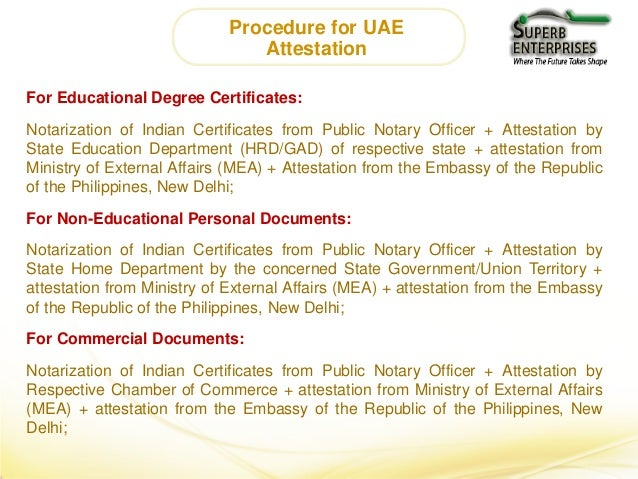 Philippines Embassy Certificate Attestation Services