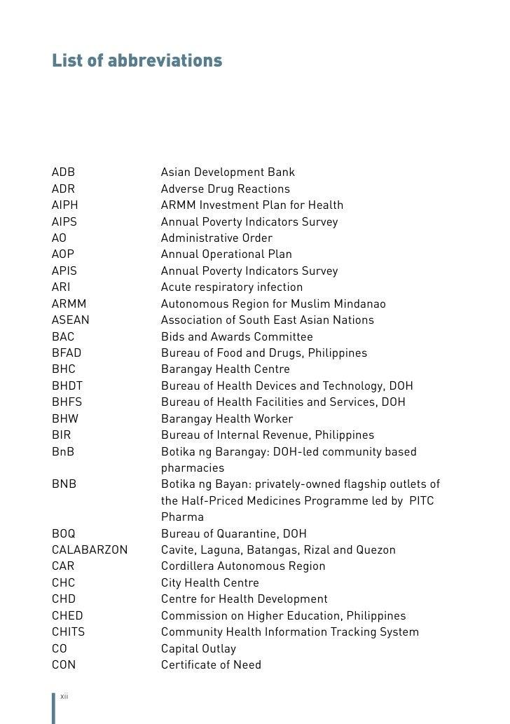 Philippines health system review for Bureau quarantine philippines