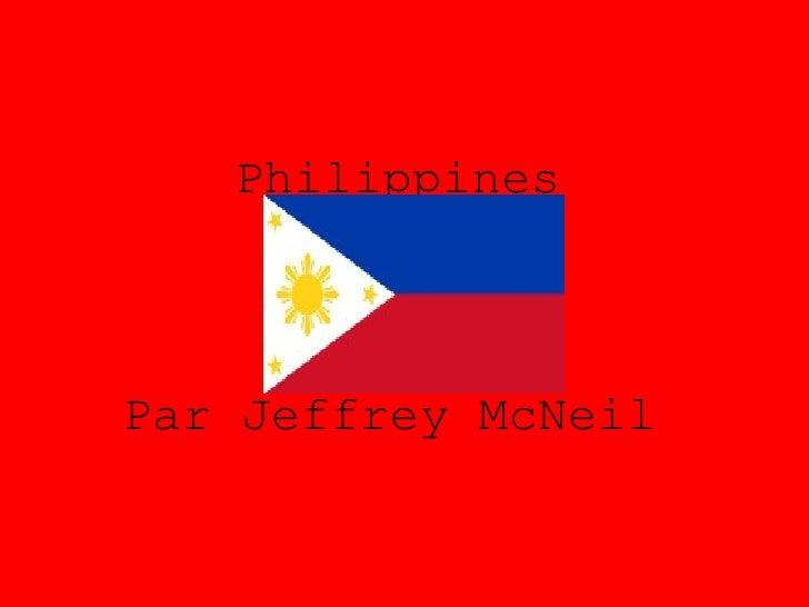 Philippines   Par Jeffrey McNeil