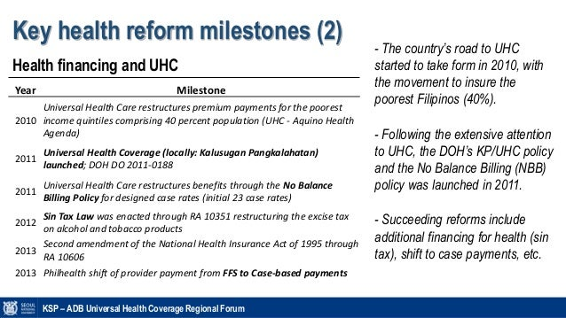 Philippines' Health system and Financing (2015)