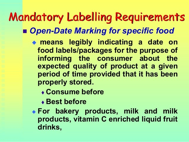Philippines labeling requirements