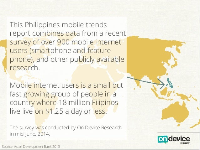 This Philippines mobile trends report combines data from a recent survey of over 900 mobile internet users (smartphone and...