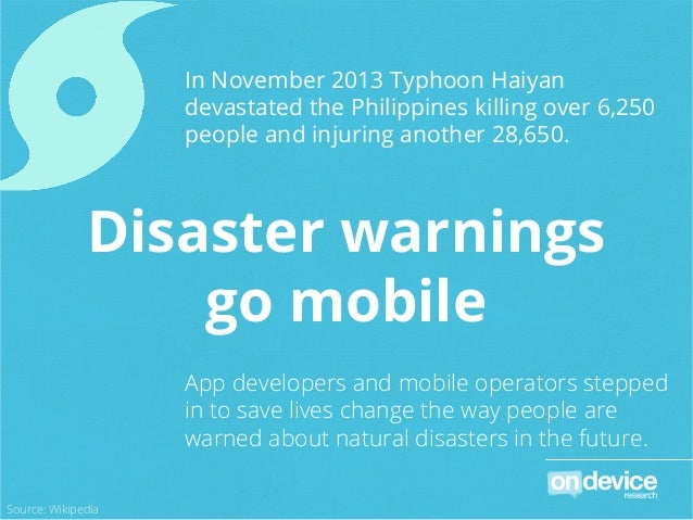 In November 2013 Typhoon Haiyan devastated the Philippines killing over 6,250 people and injuring another 28,650. App deve...